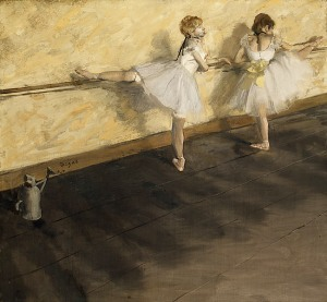 """""""Dancers Practicing at the Barre"""" by Edgar Degas"""