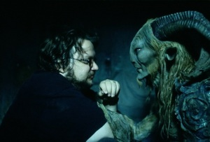 Guillermo del Toro and Doug Jones on the set of Pan's Labyrinth