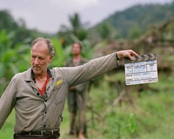 Werner Herzog on the set of Rescue Dawn