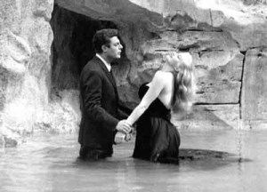 Marcello Mastroianni and Anita Ekberg in La Dolce Vita