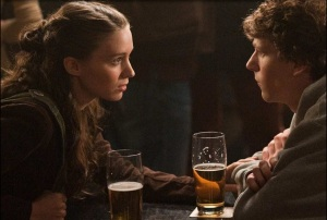 Rooney Mara and Jesse Eisenberg in The Social Network