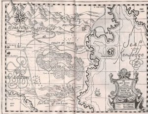 Jules Feiffer's map of The Lands Beyond
