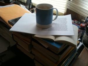 The author's desk