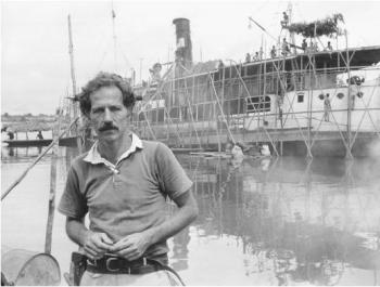 Werner Herzog on the set of Fitzcarraldo