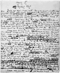 Manuscript page from A ChristmasCarol