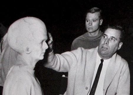 Gene Roddenberry on the set of Star Trek
