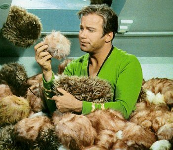 "William Shatner in ""The Trouble with Tribbles"""
