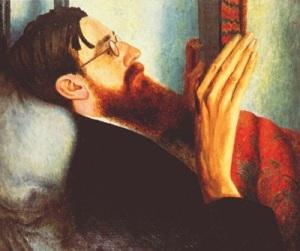 Portrait of Lytton Strachey by Dora Carrington