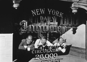 Joseph Cotten, Orson Welles, and Everett Sloane in Citizen Kane