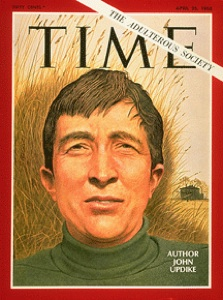 John Updike on the cover of Time Magazine