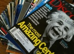 The author's trove of Discovermagazines