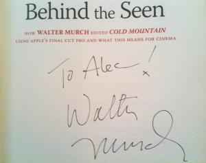 Walter Murch's autograph