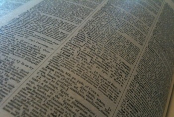 A page from the Compact Edition of the Oxford English Dictionary