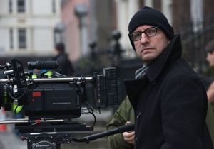 Steven Soderbergh on the set of Haywire
