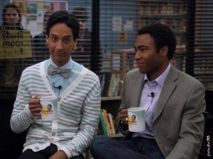 Danny Pudi and Donald Glover on Community