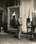 John Singer Sargent in his studio with MadameX
