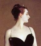 Detail of John Singer Sargent's Portrait of MadameX