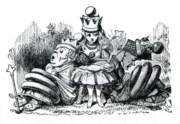 alice and the red queen illustrations of children