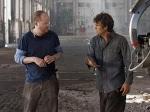 Joss Whedon and Mark Ruffalo on the set of TheAvengers