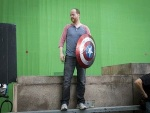 Joss Whedon on the set of TheAvengers