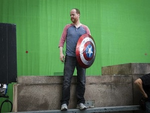 Joss Whedon on the set of The Avengers