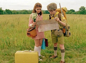 Kara Hayward and Jared Gilman in Moonrise Kingdom