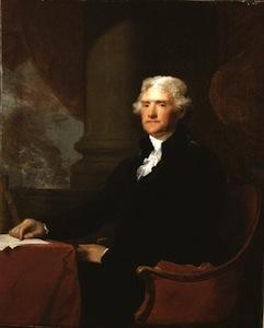 Gilbert Stuart portrait of Thomas Jefferson