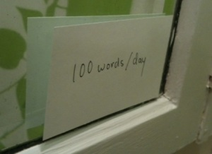 A hundred words a day