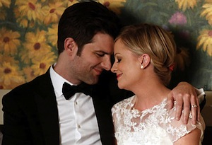 Adam Scott and Amy Poehler in Parks and Recreation
