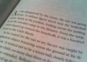 """A solitary figure stood near the basketball courts..."""