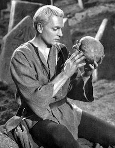 Laurence Olivier as Hamlet