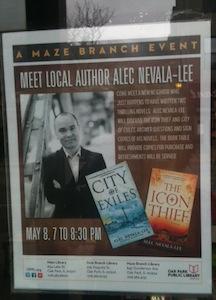 An author event at the Oak Park Public Library