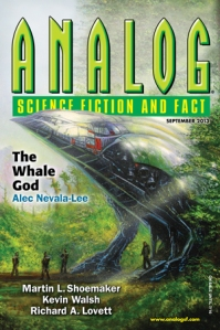 The September 2013 issue of Analog Science Fiction and Fact