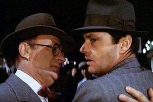 Joe Mantell and Jack Nicholson in Chinatown