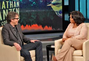 Jonathan Franzen and Oprah Winfrey