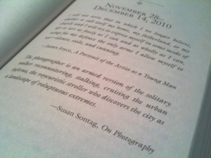 """""""The photographer is an armed version of the solitary walker..."""""""