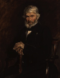 Portrait of Thomas Carlyle by Sir John Everett Millais