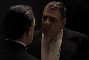 Marlon Brando and Lenny Montana in The Godfather