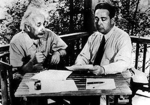 Albert Einstein and Leo Szilard