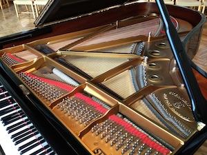 Interior of Steinway grand piano
