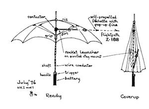 The umbrella man's umbrella