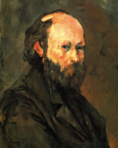 Self portrait by Paul Cézanne