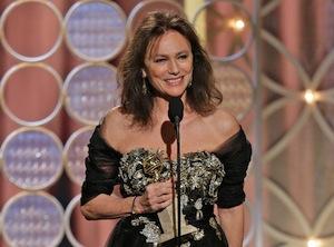 Jacqueline Bisset at the Golden Globes