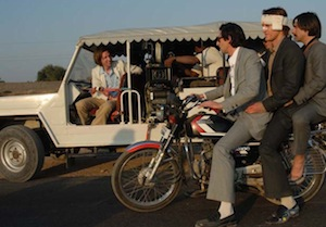 Wes Anderson and the cast of The Darjeeling Limited