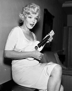 Marilyn Monroe with ukulele
