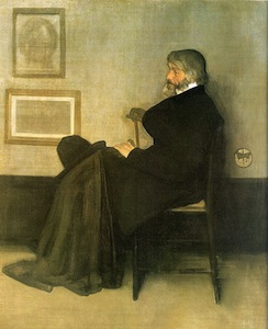 Portrait of Thomas Carlyle by James MacNeill Whistler