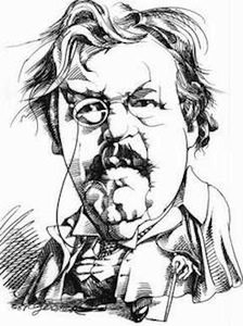 Caricature of G.K. Chesterton by Gerry Gersten