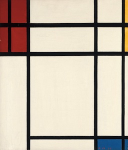Composition of Red, Blue, Yellow, and White: Nom II by Piet Mondrian