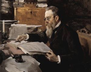 Portrait of Nicolai Rimsky-Korsakov by Valentin Serov