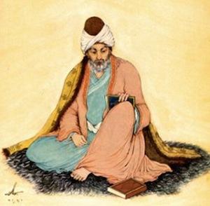 Portrait of Rumi by Hossein Behzad